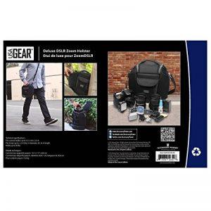 USA Gear Sacoche Sac Bandoulière Appareil Photo Réflex Housse Semi-Rigide Transporte jusqu' à 3 Objectifs Pour Nikon, Canon EOS de la marque USA GEAR image 5 produit