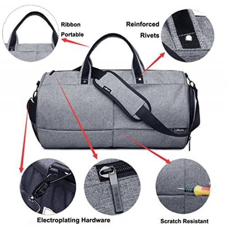4bfa0c4630 Valleycomfy Sac de sport Gym Sacs Chaussures de grande capacité avec poche  à la main/épaule/sac en bandoulière Fitness bagages Sacs de la marque  Valleycomfy