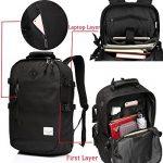 Vaschy School Backpack, Vaschy Unisexe Classique poids léger résistant à l'eau College sac à dos sac à dos pour ordinateur portable de 14 pouces de la marque Vaschy image 2 produit