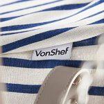 VonShef Panier Pique-Nique en Osier + Vaisselle et Couverture Incluses 4 Personnes - Bleu Marine de la marque image 4 produit