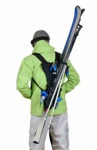 Wantalis - Skiback - Un produit révolutionnaire pour porter vos skis en libérant vos mains - Bretelles adaptables et réglables de la marque image 0 produit