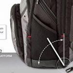 """Wenger 600635 SYNERGY 16"""" Laptop Backpack, compartiment pour ordinateur portable rembourré avec iPad/tablette / eReader de poche en noir / gris {26 Litres} de la marque image 3 produit"""