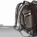 """Wenger 600635 SYNERGY 16"""" Laptop Backpack, compartiment pour ordinateur portable rembourré avec iPad/tablette / eReader de poche en noir / gris {26 Litres} de la marque Wenger image 6 produit"""