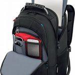 """Wenger 600637 Carbon 17"""" MacBook Pro sac à dos, compartiment pour ordinateur portable rembourré avec plate-forme de stabalising cas en noir {25 Litres} de la marque image 2 produit"""