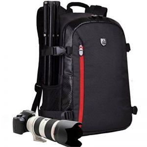 Yuhan Sac à dos professionnel multifonction grande contenance pour appareil photo, imperméable, antichoc SLR/DSLR, pour ordinateur portable pouces, avec rembourrage intérieur et protection anti-pluie supplémentaire pour Canon Nikon Sony Nikon Olympus Sams image 0 produit