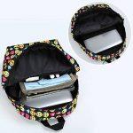 Zicac Nouveau Sac à dos en toile mignon motif QQ émoticônes pour enfants étudiant de la marque image 3 produit