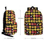 Zicac Sac à dos en toile mignon motif QQ émoticônes pour enfants étudiant de la marque image 1 produit