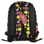 Zicac Sac à dos en toile mignon motif QQ émoticônes pour enfants étudiant de la marque image 2 produit