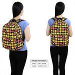 Zicac Sac à dos en toile mignon motif QQ émoticônes pour enfants étudiant de la marque image 6 produit