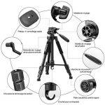 ZOMEI®Q111 Trépied professionnel pour appareil photo et camera avec un sac de transport. Compatible Canon, Nikon et Sony. (noir) de la marque Zomei image 1 produit