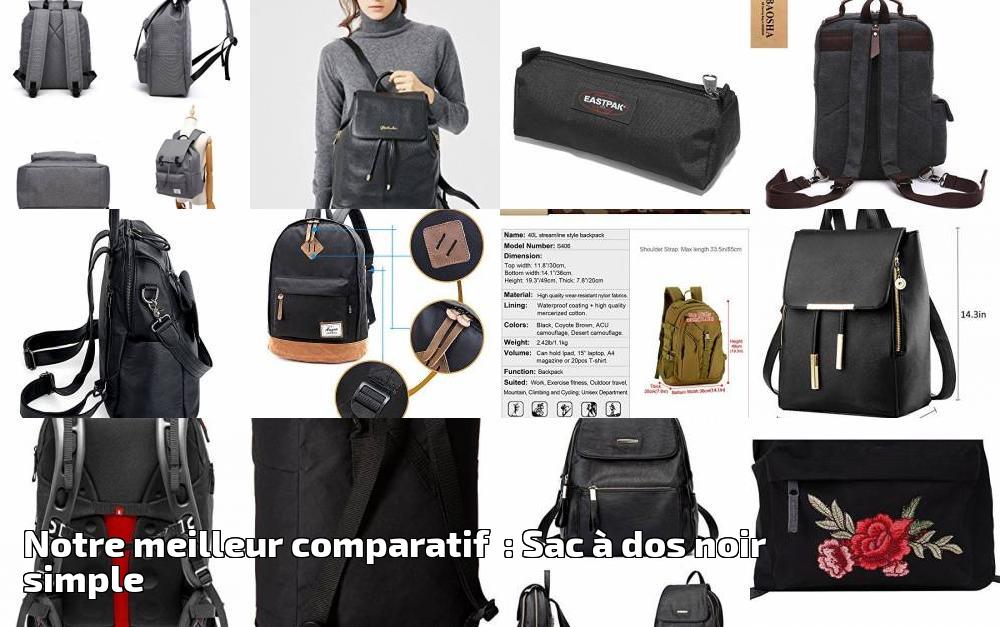 448261eaa1 Notre meilleur comparatif : Sac à dos noir simple pour 2019 | Choix du sac  à dos